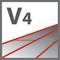 V4 – паз по периметру